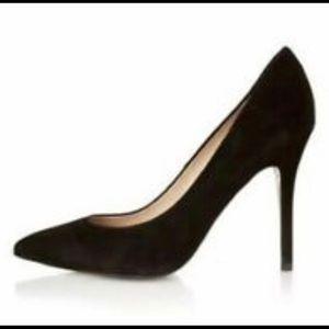 Topshop Black Suede Heels sz 37